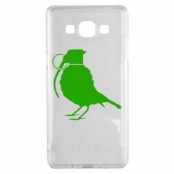 Чехол для Samsung A5 2015 Птичка с гранатой