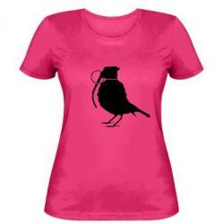 Женская футболка Птичка с гранатой - FatLine