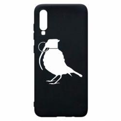 Чехол для Samsung A70 Птичка с гранатой