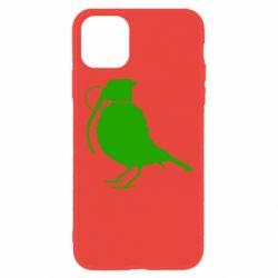 Чехол для iPhone 11 Птичка с гранатой