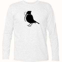 Футболка с длинным рукавом Птичка с гранатой - FatLine