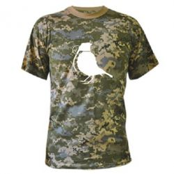 Камуфляжная футболка Птичка с гранатой