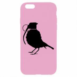 Чехол для iPhone 6 Птичка с гранатой