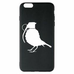 Чехол для iPhone 6 Plus/6S Plus Птичка с гранатой
