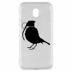 Чехол для Samsung J3 2017 Птичка с гранатой