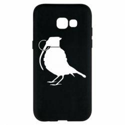 Чехол для Samsung A5 2017 Птичка с гранатой