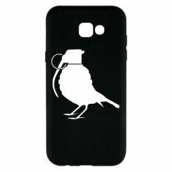 Чехол для Samsung A7 2017 Птичка с гранатой