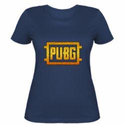 Женская футболка PUBG and cracks