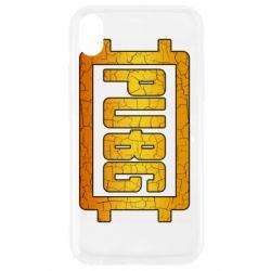 Чехол для iPhone XR PUBG and cracks