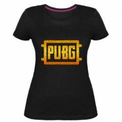 Женская стрейчевая футболка PUBG and cracks
