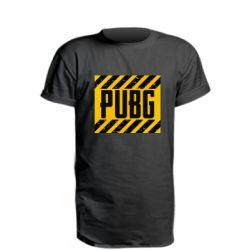 Удлиненная футболка PUBG and stripes