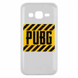 Чехол для Samsung J2 2015 PUBG and stripes