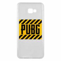 Чехол для Samsung J4 Plus 2018 PUBG and stripes