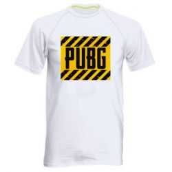 Мужская спортивная футболка PUBG and stripes