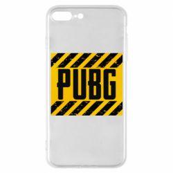 Чехол для iPhone 7 Plus PUBG and stripes