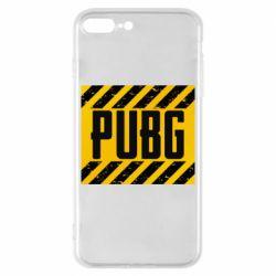 Чехол для iPhone 8 Plus PUBG and stripes