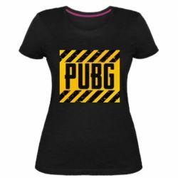 Женская стрейчевая футболка PUBG and stripes