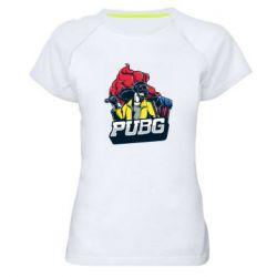 Жіноча спортивна футболка Pubg art 1