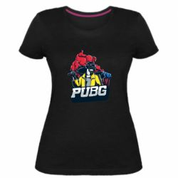 Жіноча стрейчева футболка Pubg art 1