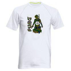 Чоловіча спортивна футболка Pubg camouflage silhouette