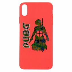 Чохол для iPhone X/Xs Pubg camouflage silhouette