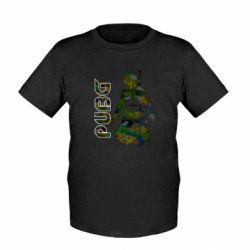 Дитяча футболка Pubg camouflage silhouette