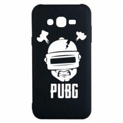 Чехол для Samsung J7 2015 PUBG: hero face