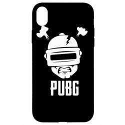 Чехол для iPhone XR PUBG: hero face
