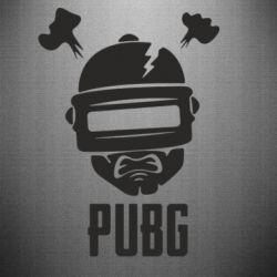 Наклейка PUBG: hero face