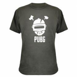 Камуфляжная футболка PUBG: hero face