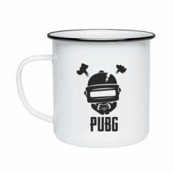 Кружка эмалированная PUBG: hero face