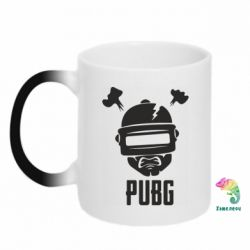 Кружка-хамелеон PUBG: hero face