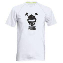 Мужская спортивная футболка PUBG: hero face