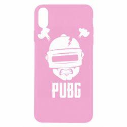 Чехол для iPhone X/Xs PUBG: hero face