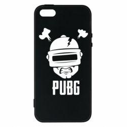 Чехол для iPhone5/5S/SE PUBG: hero face
