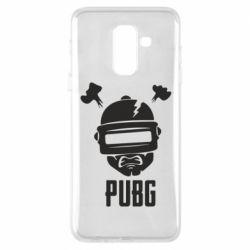 Чехол для Samsung A6+ 2018 PUBG: hero face
