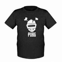 Детская футболка PUBG: hero face