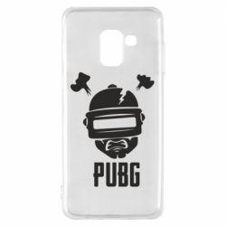 Чехол для Samsung A8 2018 PUBG: hero face