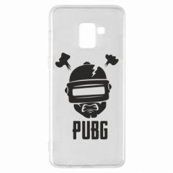 Чехол для Samsung A8+ 2018 PUBG: hero face