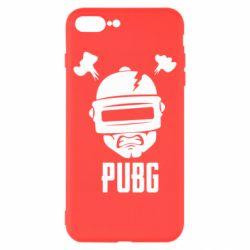 Чехол для iPhone 8 Plus PUBG: hero face