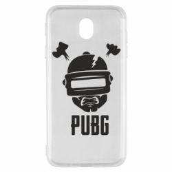 Чехол для Samsung J7 2017 PUBG: hero face