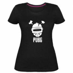 Женская стрейчевая футболка PUBG: hero face
