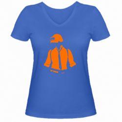 Жіноча футболка з V-подібним вирізом PUBG Hero Men's