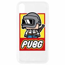 Чехол для iPhone XR PUBG LEGO