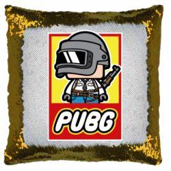 Подушка-хамелеон PUBG LEGO