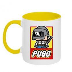 Кружка двухцветная 320ml PUBG LEGO