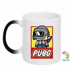 Кружка-хамелеон PUBG LEGO