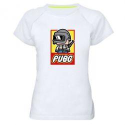 Женская спортивная футболка PUBG LEGO