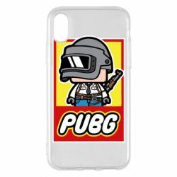 Чехол для iPhone X/Xs PUBG LEGO