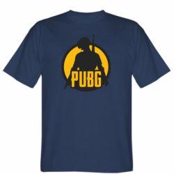 Мужская футболка PUBG logo and game hero